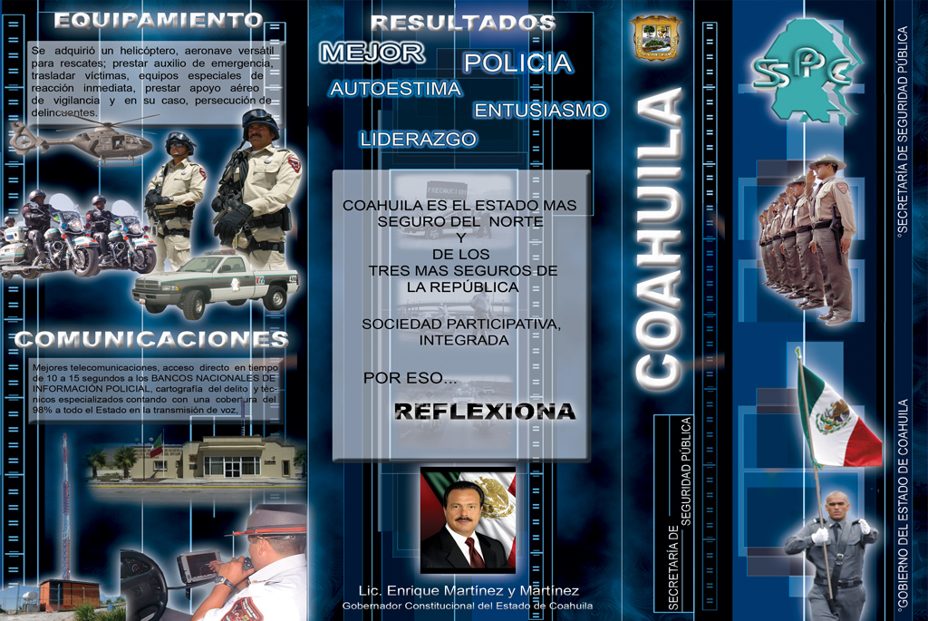 Tríptico para SSP Coahuila.