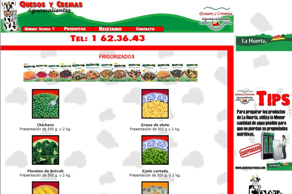 Página web Quesos y Cremas