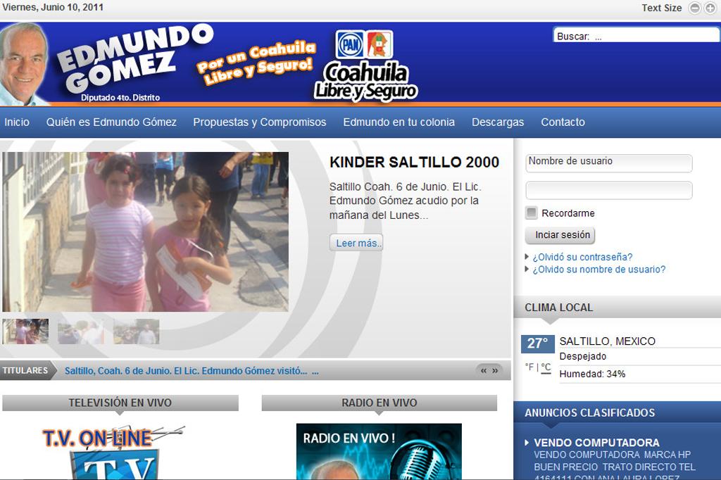 Página web Edmundo Gómez