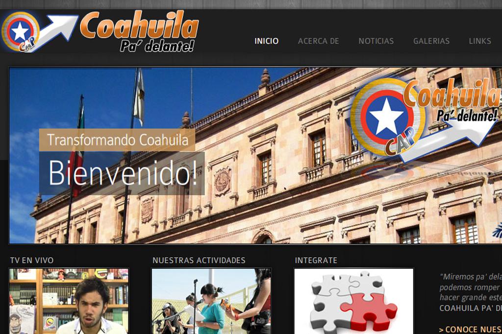 Página web Coahuila Padelante