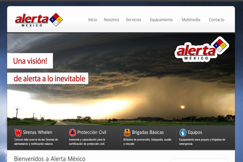 Página web Alerta México