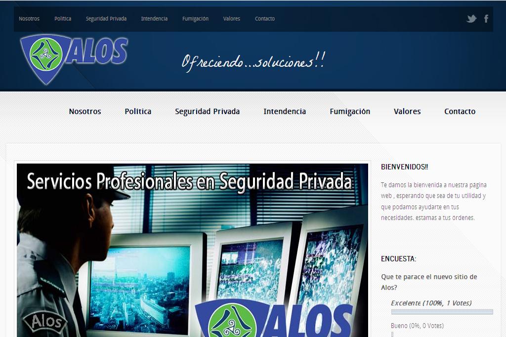Página web Alos