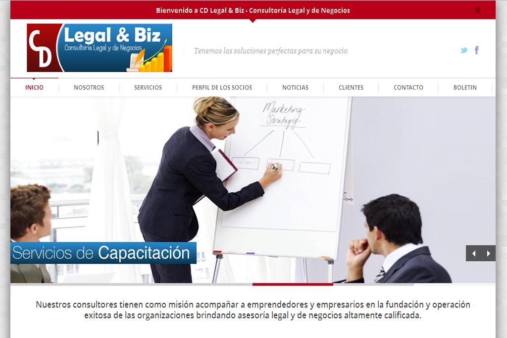 Página Web CD Legal & Biz.