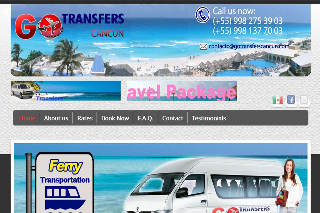 Página web Go Transfers