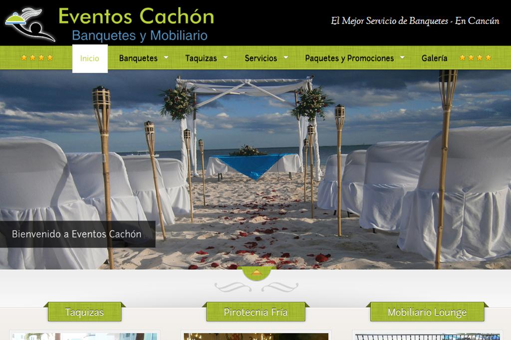 Página Web Eventos Cachón