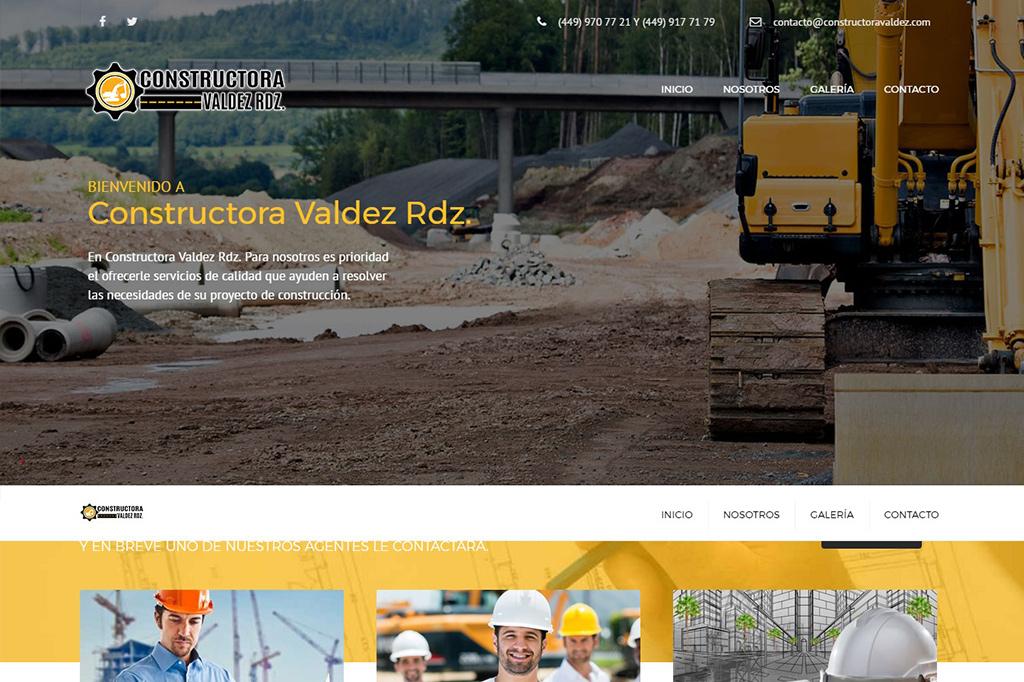 Página web Constructora Valdez