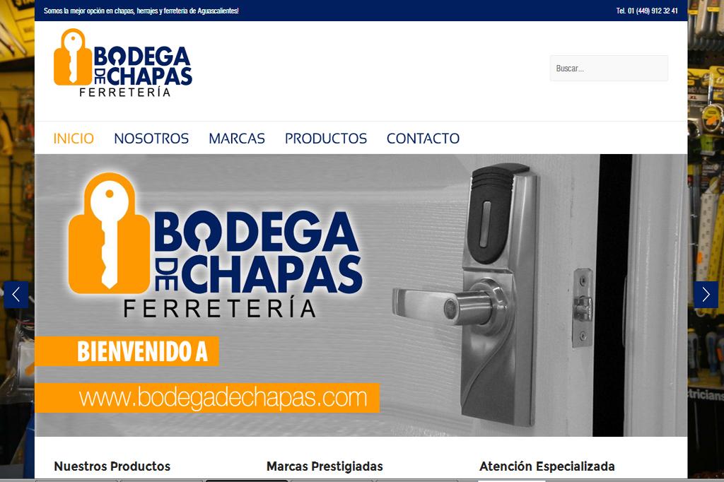 Página web Bodega de Chapas