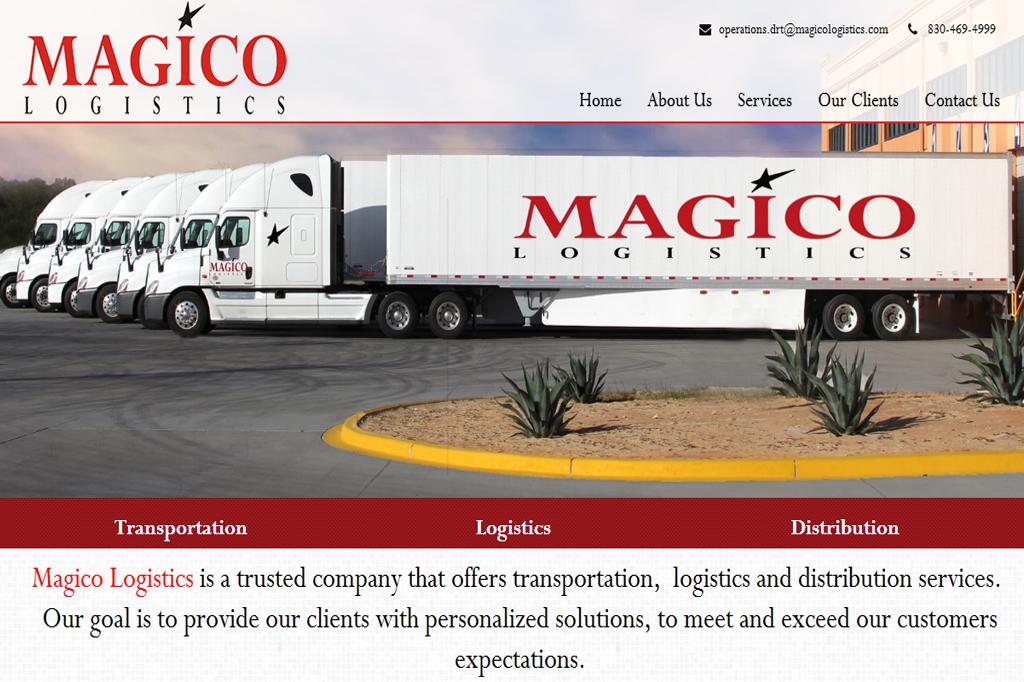 Página web Magico Logistics