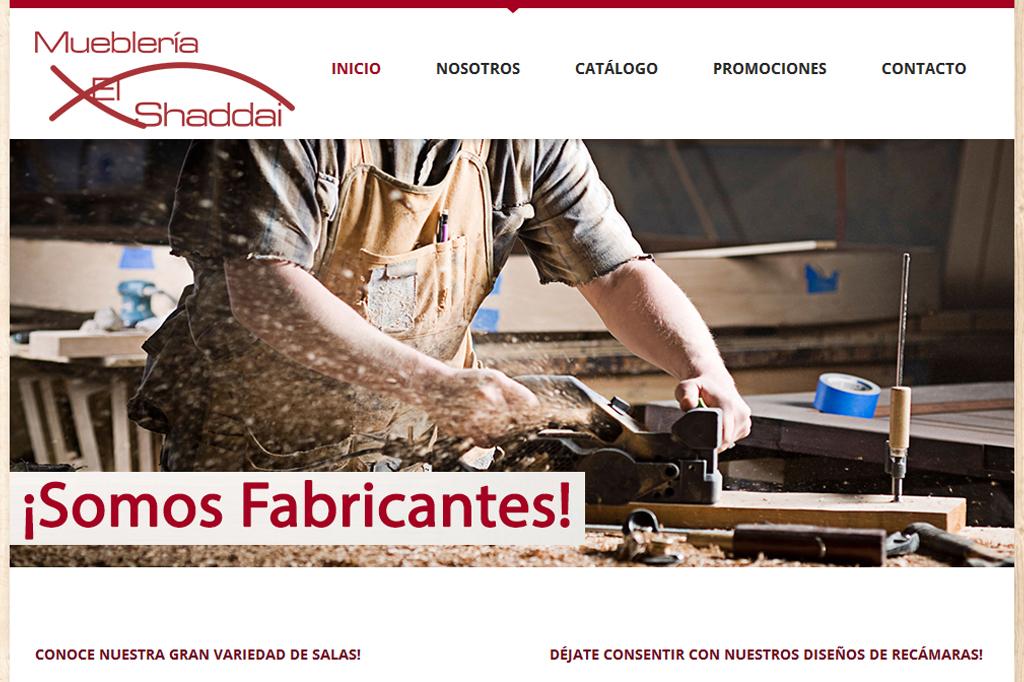Página web Mueblería El Shaddai