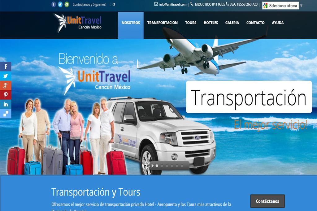 Página web UnitTravel