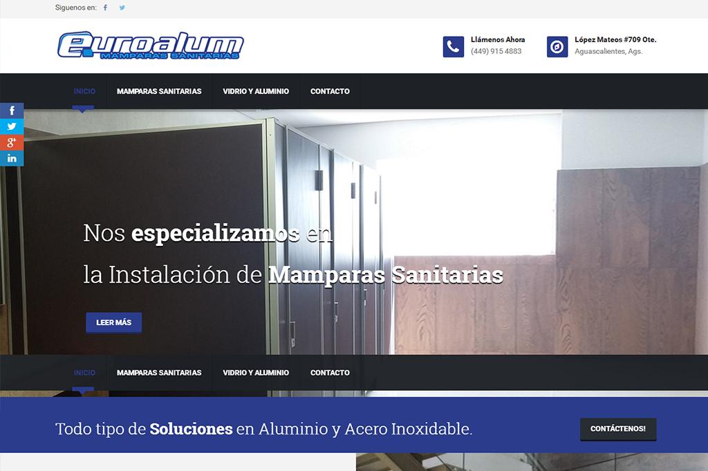 Página web Euroalum