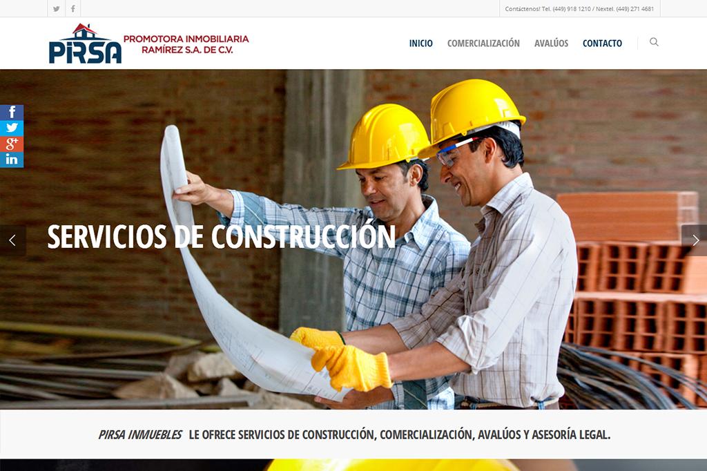 Página web Pirsa