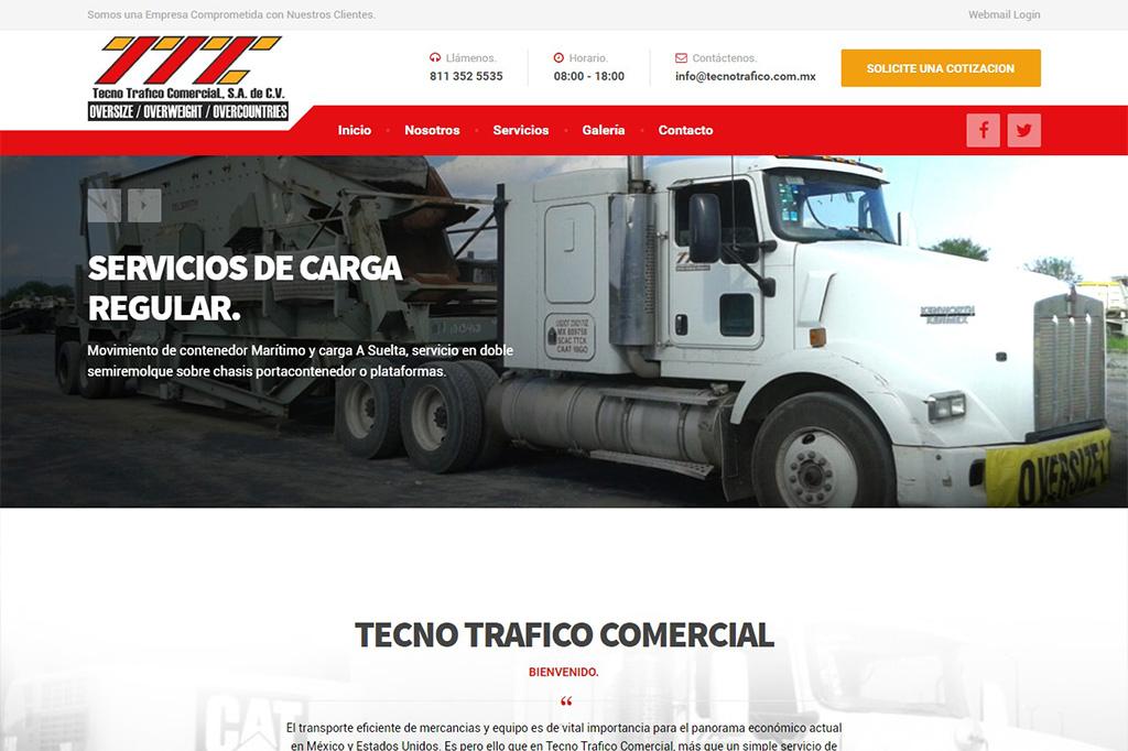 Página web Tecno Tráfico Comercial