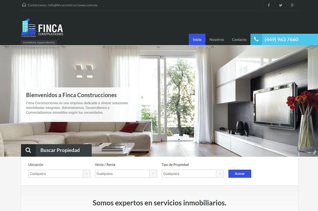 Página web Finca Construcciones