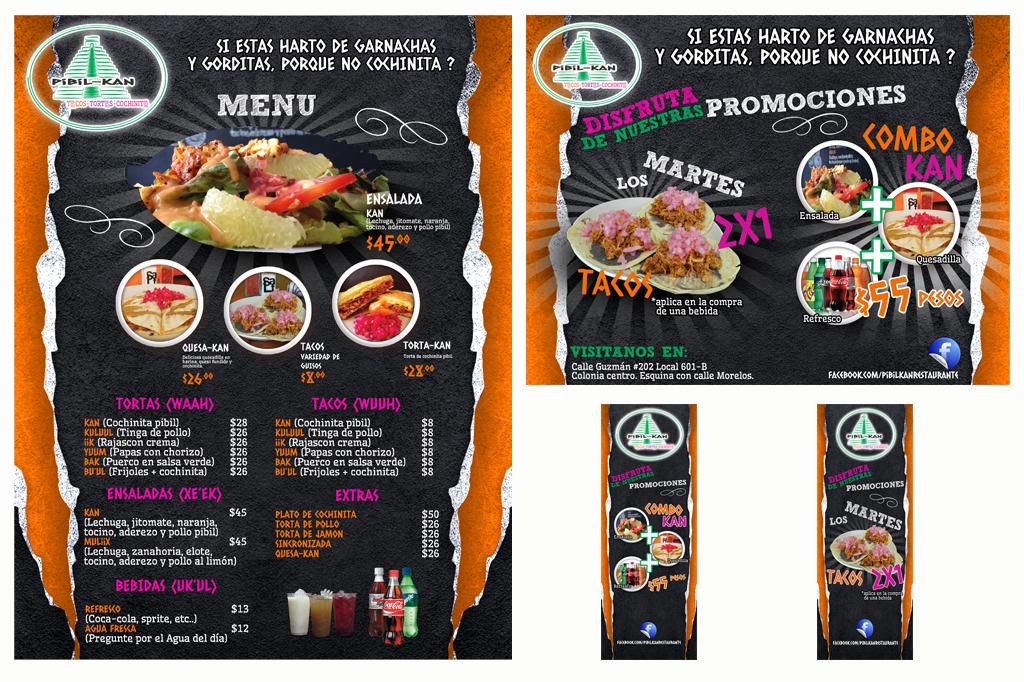 Diseño Menu, Flyer y Banners