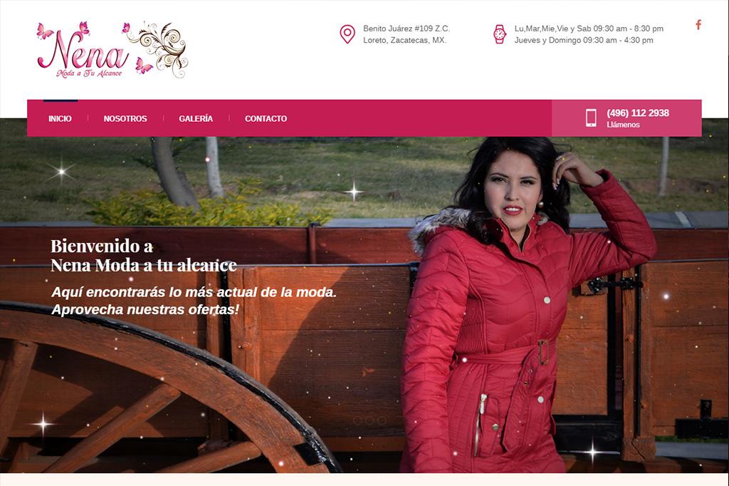 Página web Nena Moda