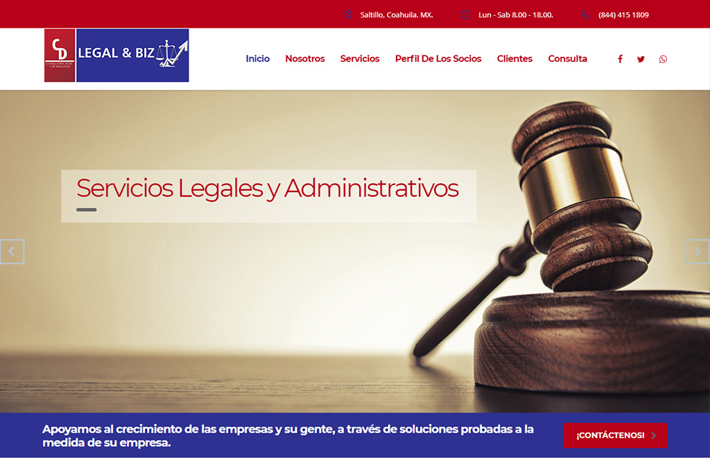 Página Web CD Legal & Biz