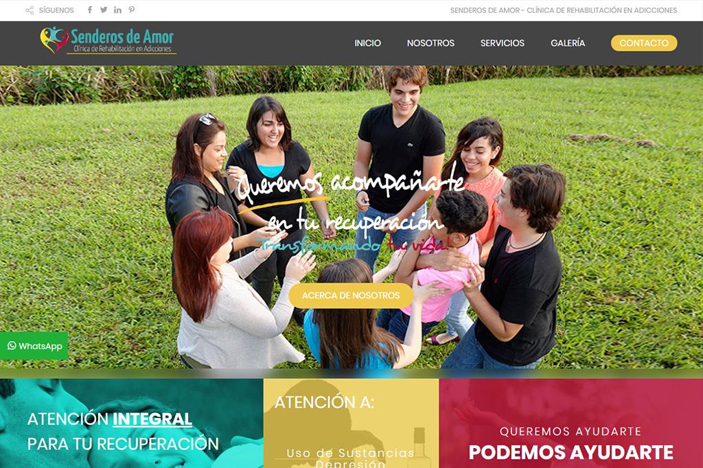 Página Web Senderos de Amor