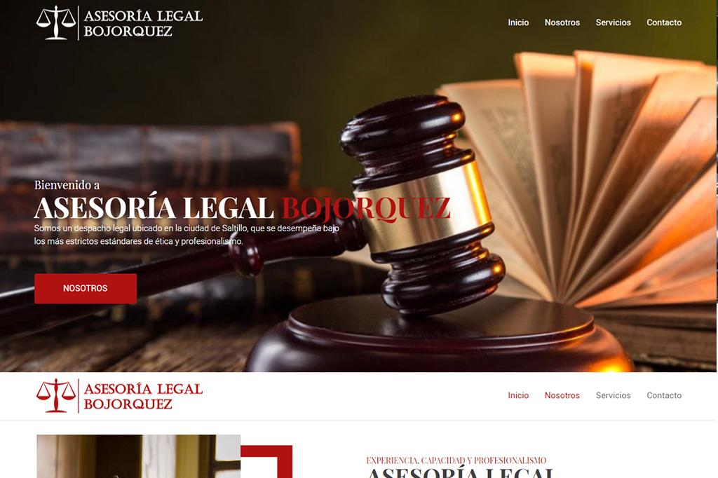 Página web Asesoría Legal Bojorquez