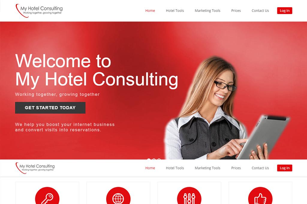 Página web My Hotel Consulting
