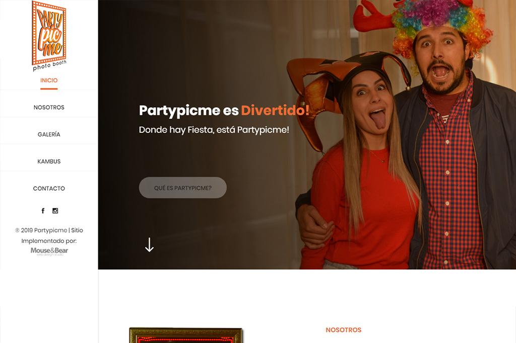 Página web PartyPicMe