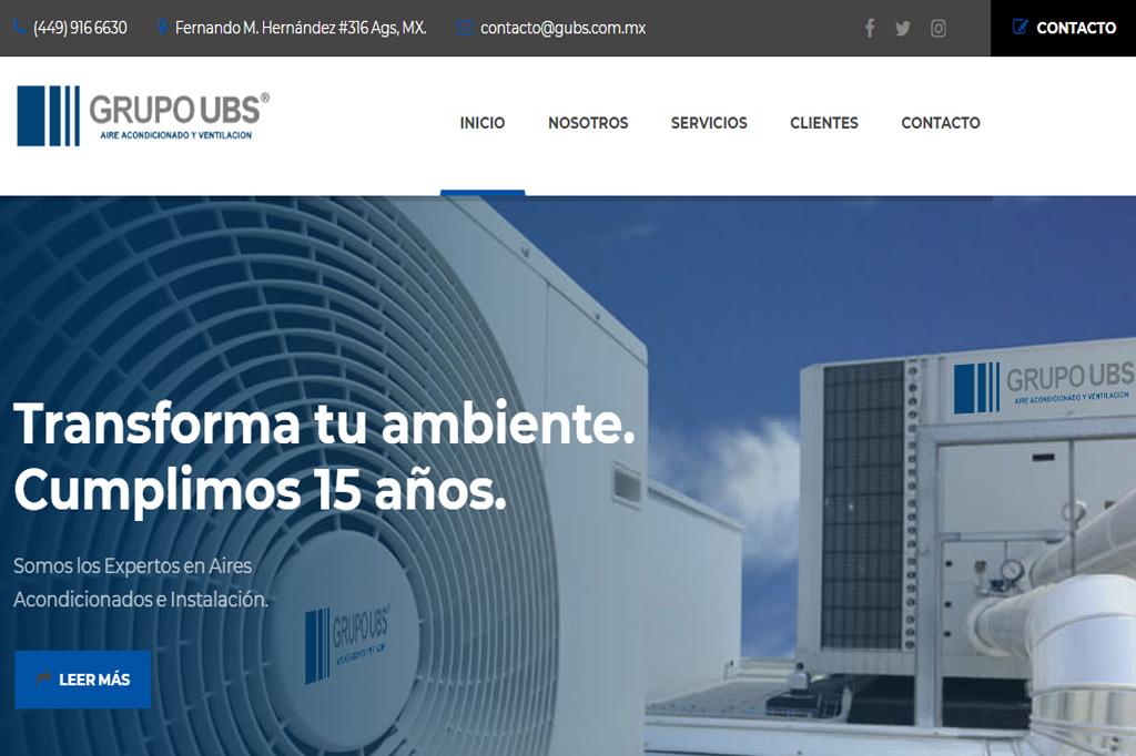 Página web Grupo UBS