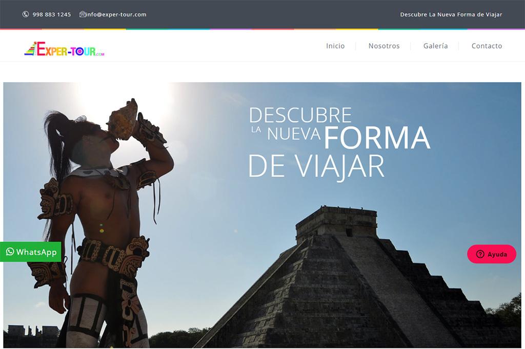 Página web ExperTour