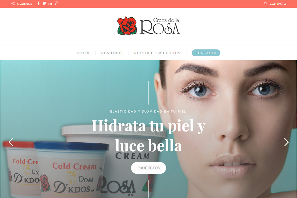 Página web Crema de la Rosa