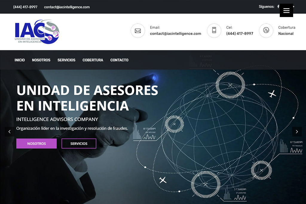 Página web IAC Intelligence
