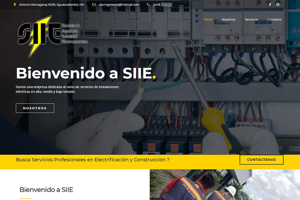 Página web SIIE