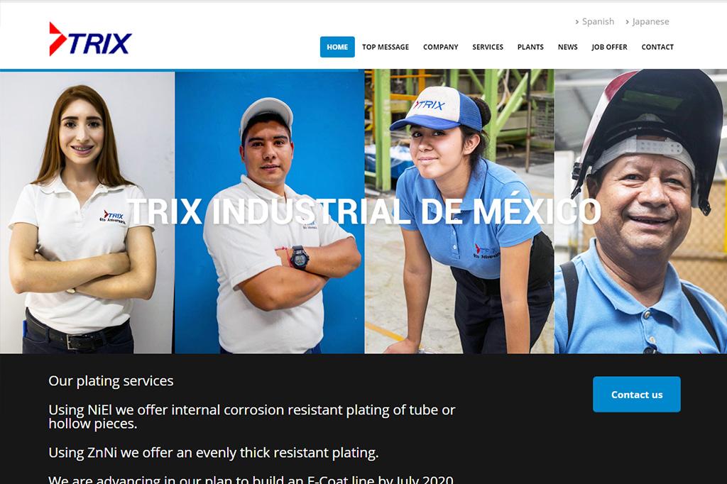 Página web Trix Industrial