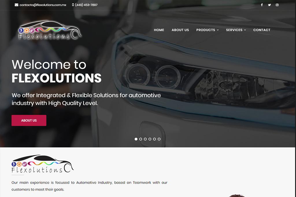 Página web Flexolutions