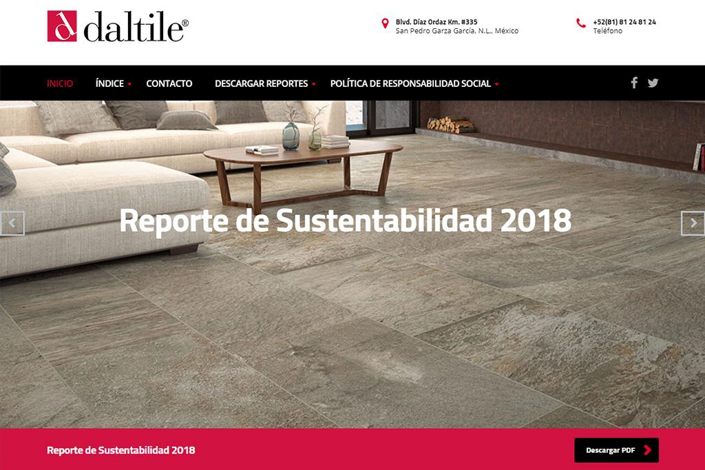 Página web Reporte DTM 2018