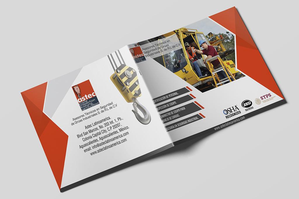 Diseño Brochure Astec Latinoamérica