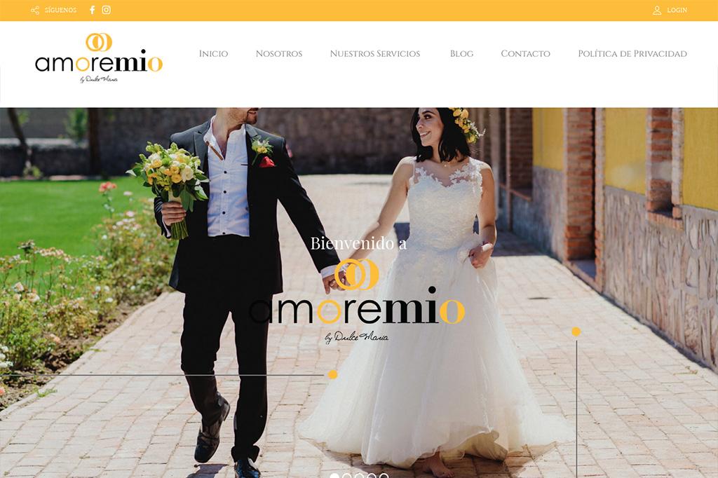 Página web Bodas Amore Mio